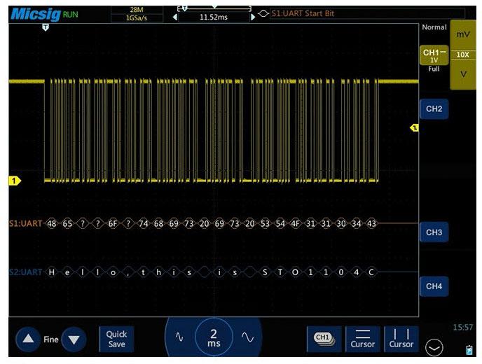 Micsig STO1102C в режиме декодирования