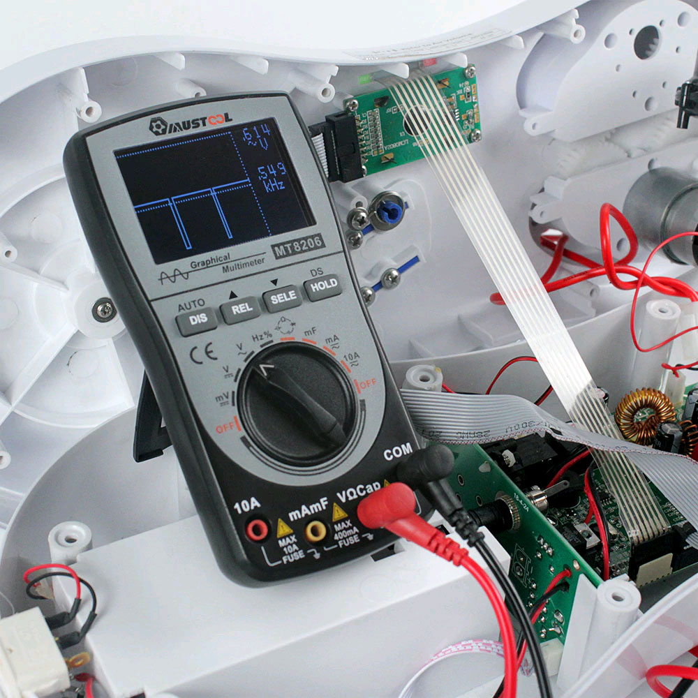 пример применения мультиметра mustool MT8206