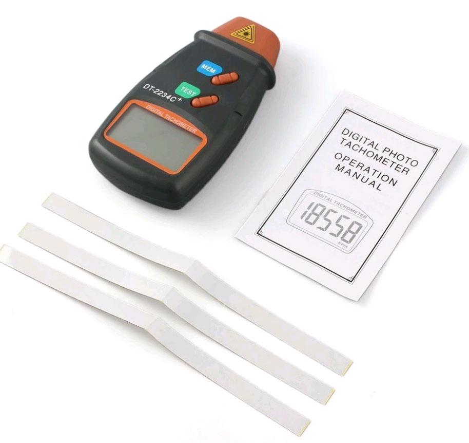 стандартная комплектация тахометра DT2234+
