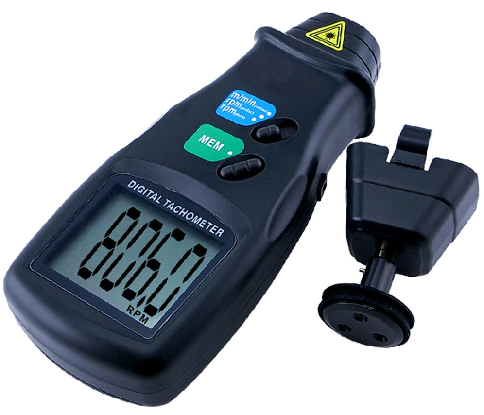 контактные измерения скорости тахометром DT6236B