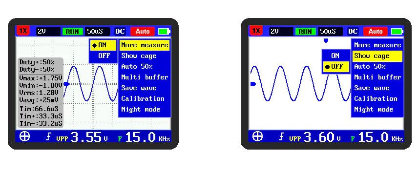 стандартная комплектация портативного осциллографа FNIRSI-2031H