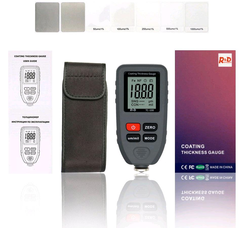 TC100 grey стандартная комплектация толщиномера