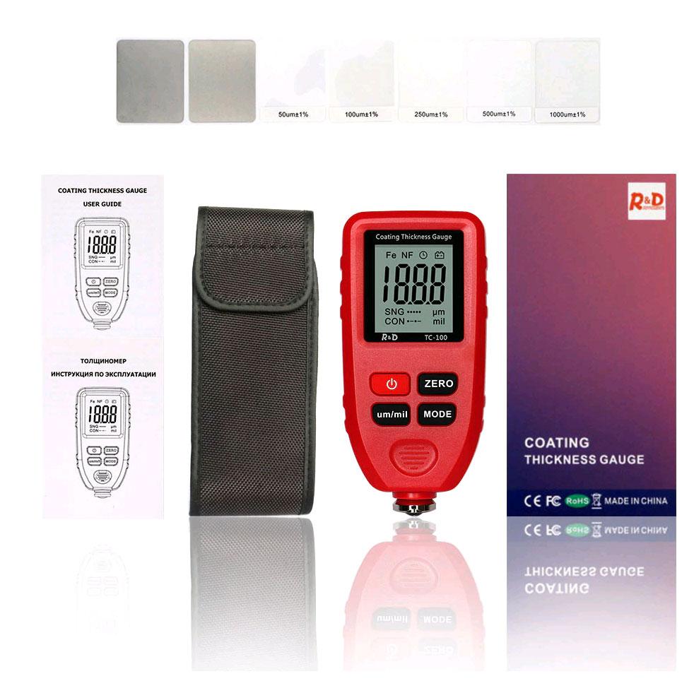толщиномер TC100 red комплект поставки стандартный