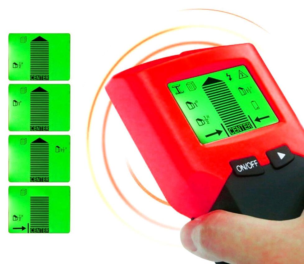 TH231 искатель скрытой проводки, детектор дерева и металла: комплект поставки
