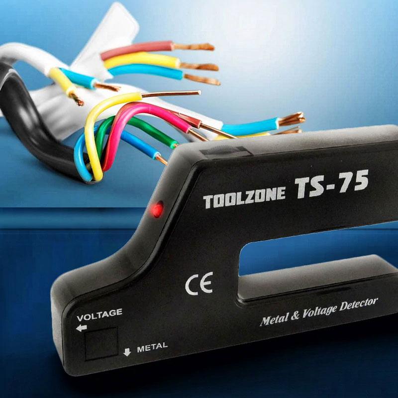 TS75 искатель скрытой проводки, детектор дерева и металла: комплект поставки
