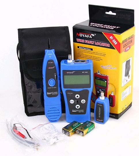 NF308  (blue)  Noyafa стандартная комплектация кабельного тестера