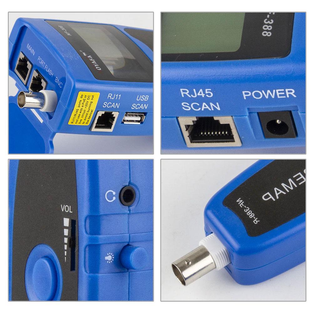 Области применения кабельного тестера NF388 (blue) Noyafa