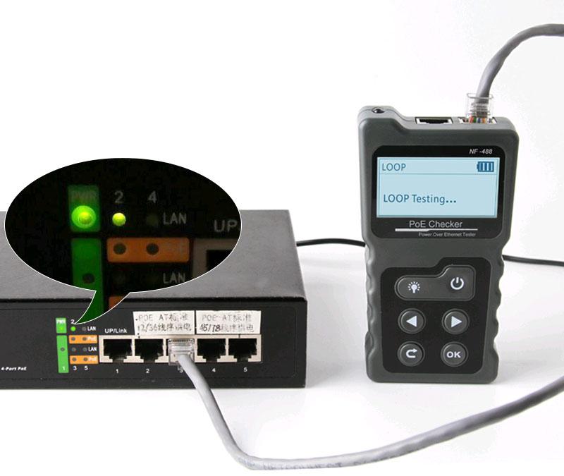 NF488 Noyafa предназначен для тестирования PoE