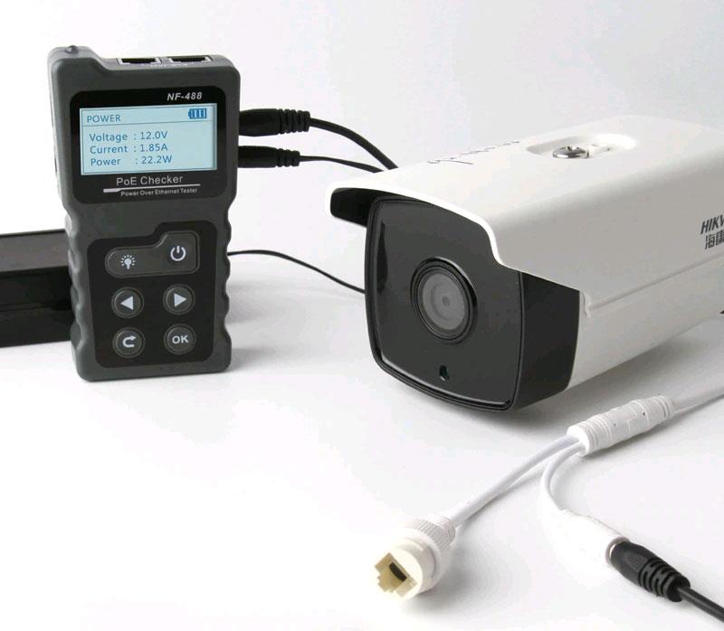 Удобный и эффективный инструмент NF488 Noyafa при тестировании устройств PoE