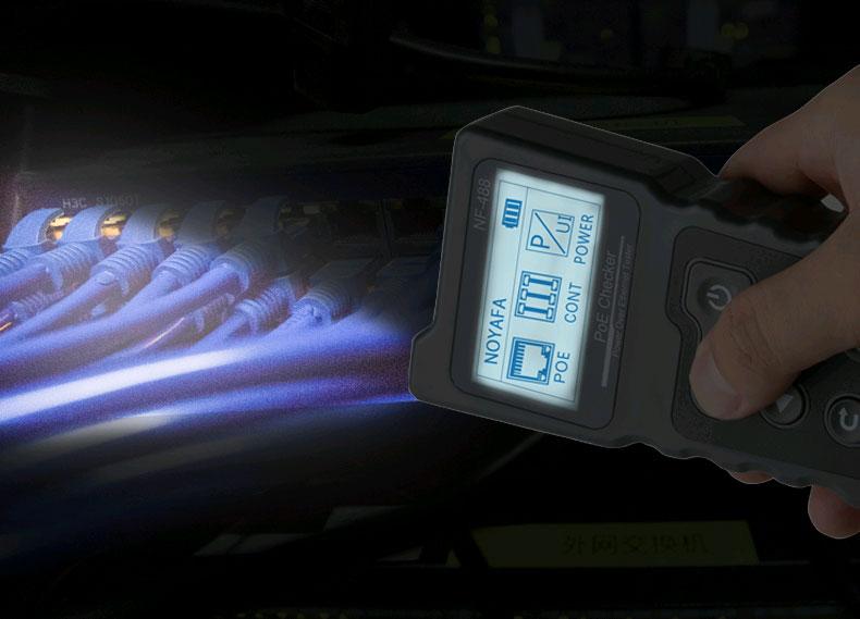 NF8209 Noyafa имеет встроенный фонарик для подстветки