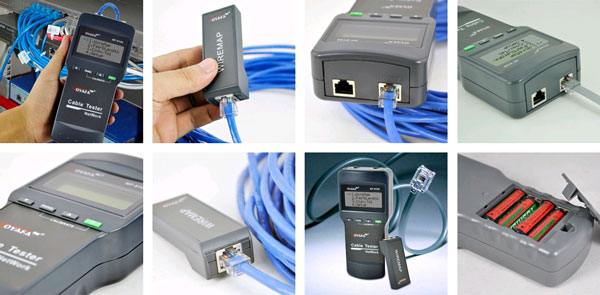 Области применений кабельного тестера Noyafa NF8108