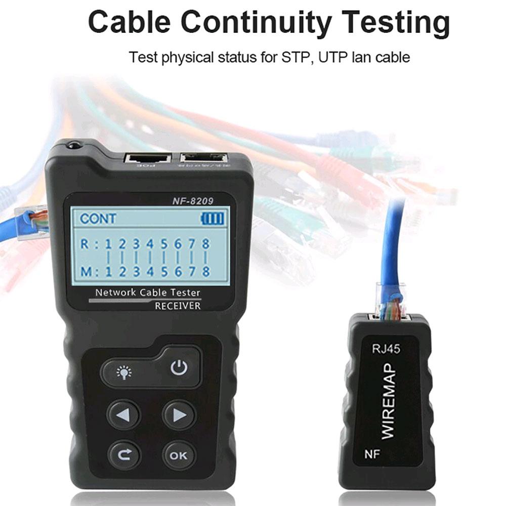 Удобный и эффективный инструмент NF8209 Noyafa при тестировании устройств PoE