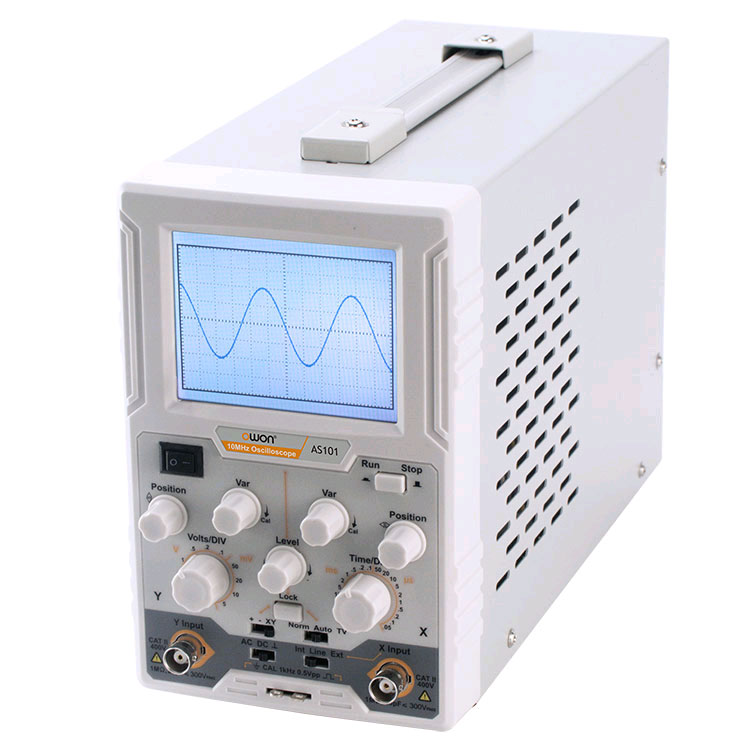 Осциллограф OWON AS-101: полоса пропускания 10МГц, выборка 100МВ/с