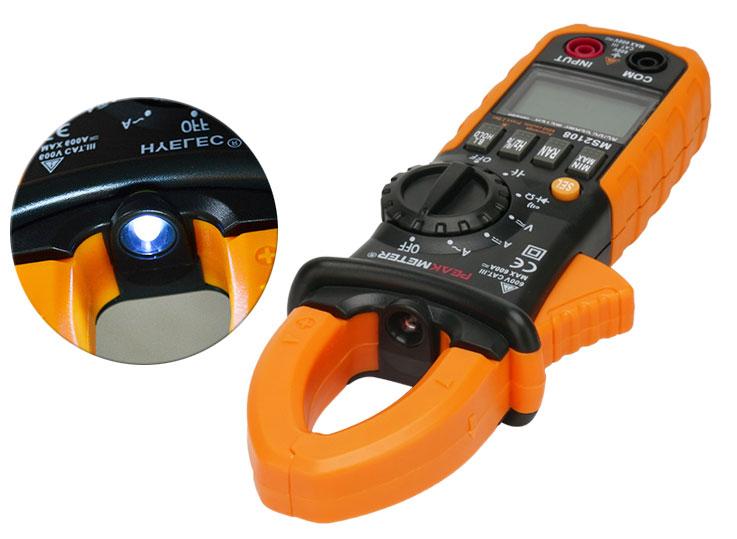 PM2108APeakmeter встроенный фонарик в токовые клеши