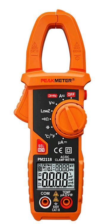 Стандартная комплектация токовых клещей PM2118Peakmeter
