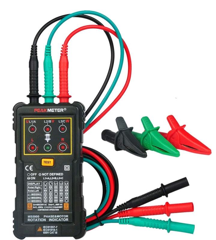 Тестер чередования фаз PM5900Peakmeter: лучший выбор для тестирования двигателей