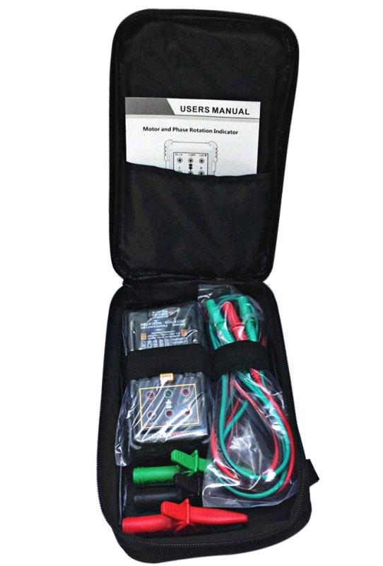 Тестер чередования фаз PM5900Peakmeter: комплект поставки