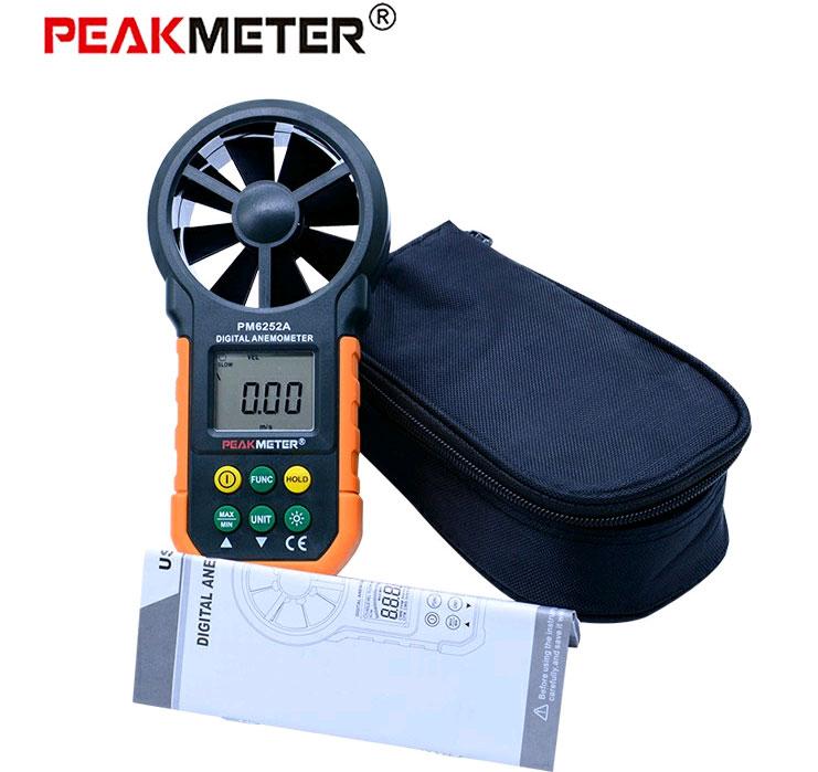 PM6252A анемометр Peakmeter, стандартная комплектация