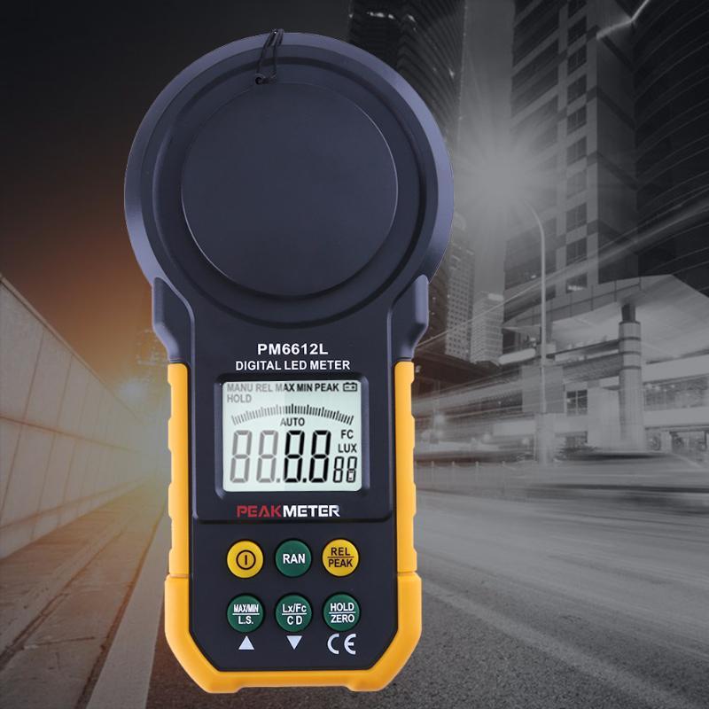 PM6612L люксметр Peakmeter: измерение пиковых значений освещенности