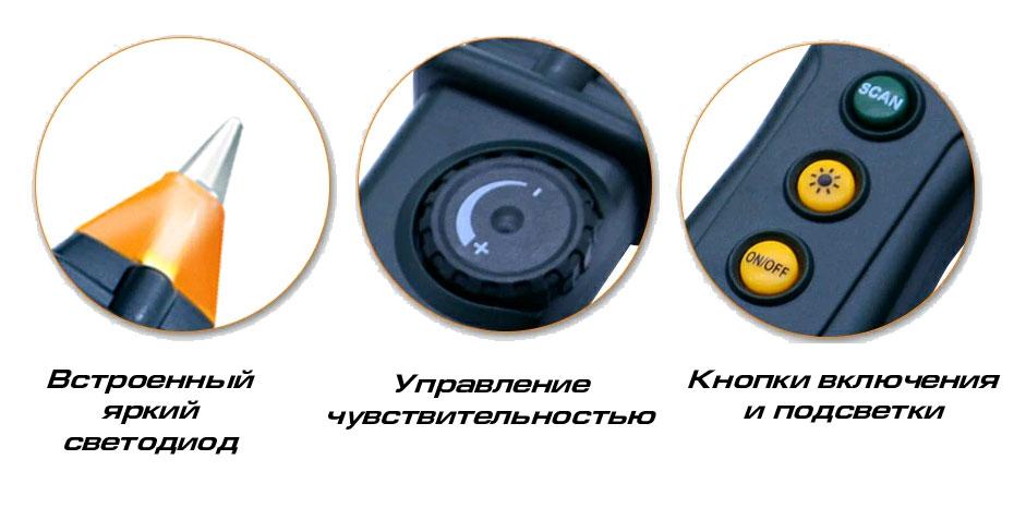 Кабельный тестер PM-6819  Peakmeter: органы управления приемника