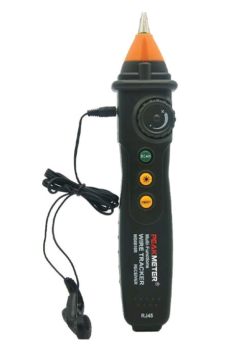 Кабельный тестер PM-6819  Peakmeter: внешний вид приемника с наушниками