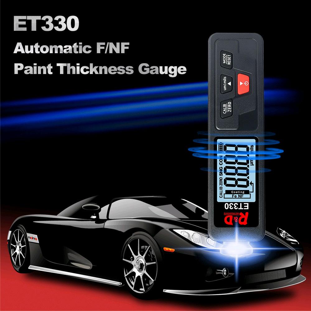 ET330 black толщиномер краски оснащен стабильным датчиком толщины лакокрасочного покрытия