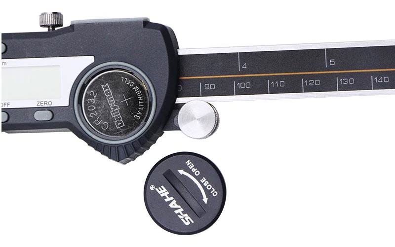 Цифровой штангенциркуль SHAHE 5110-300: элемент питания, батарейный отсек