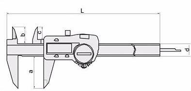 Схемотехническое изображение штенгенциркуля 5110-300