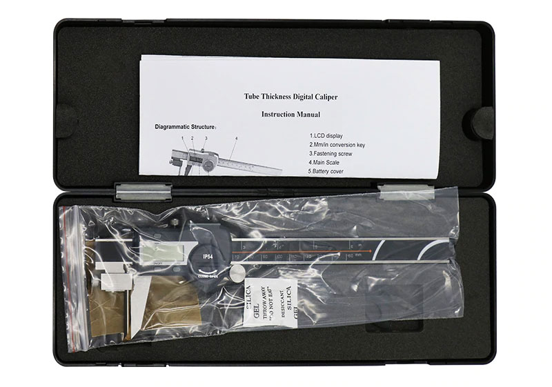 Цифровой трубный штангенциркуль SHAHE 5117-300: стандартная поставка