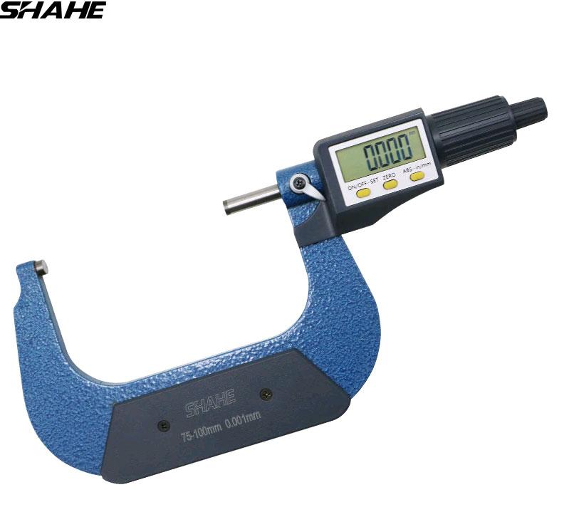SHAHE 5205-100, цифровой микрометр: диапазон измерений 75-100 мм