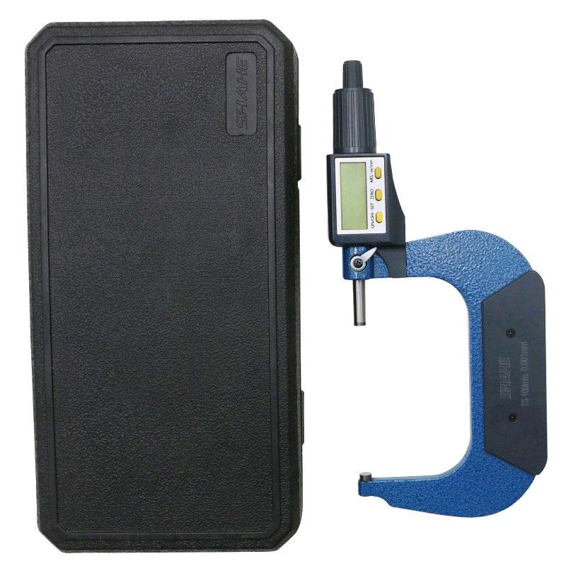 SHAHE 5205-100, цифровой микрометр: погрешность измерений 0,003 мм