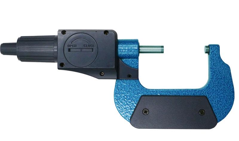 SHAHE 5205-25, цифровой микрометр, батарейный отсек на батарею CR2032