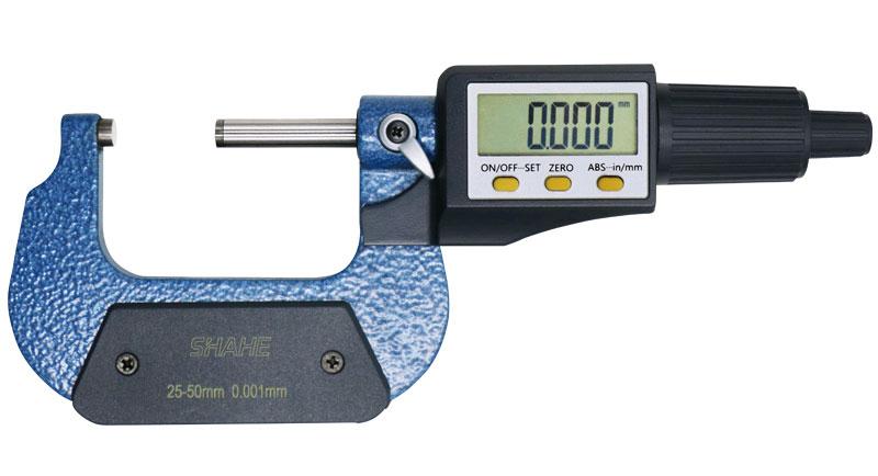 SHAHE 5205-50, цифровой микрометр: диапазон измерений 25-50 мм