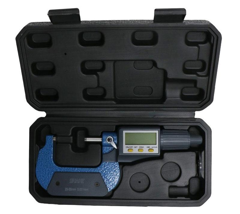SHAHE 5205-50, цифровой микрометр: разрешение 0,001 мм