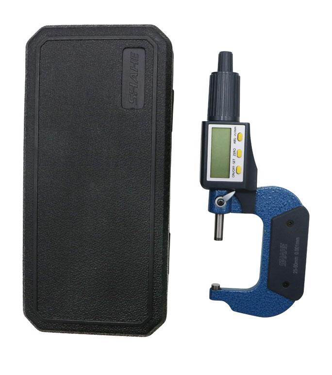 SHAHE 5205-50, цифровой микрометр: с функцией относительных измерений