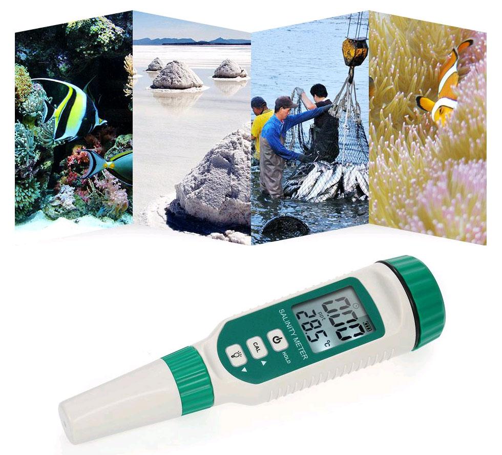 Измеритель солёности AR8012 применяется для проверки уровня соли в воде