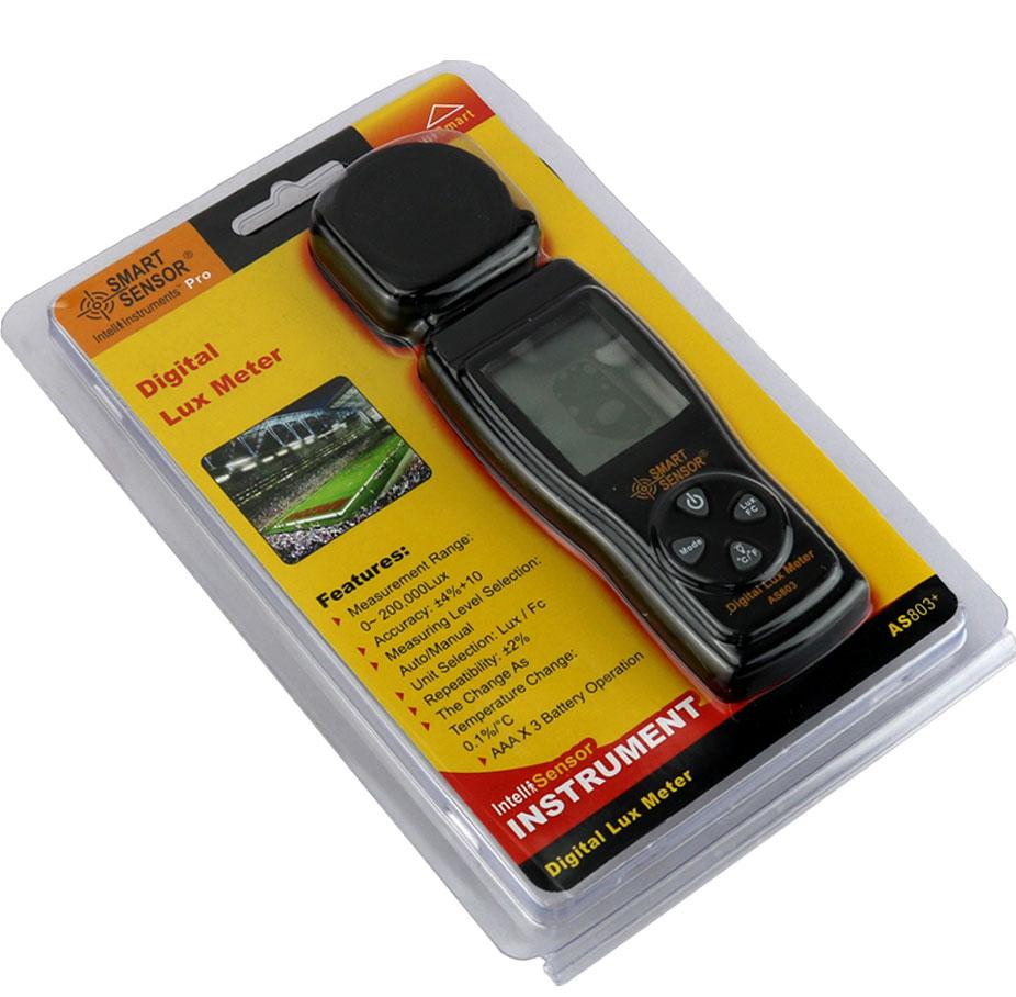 AS803 люксметр Smart Sensor: стандартная поставка