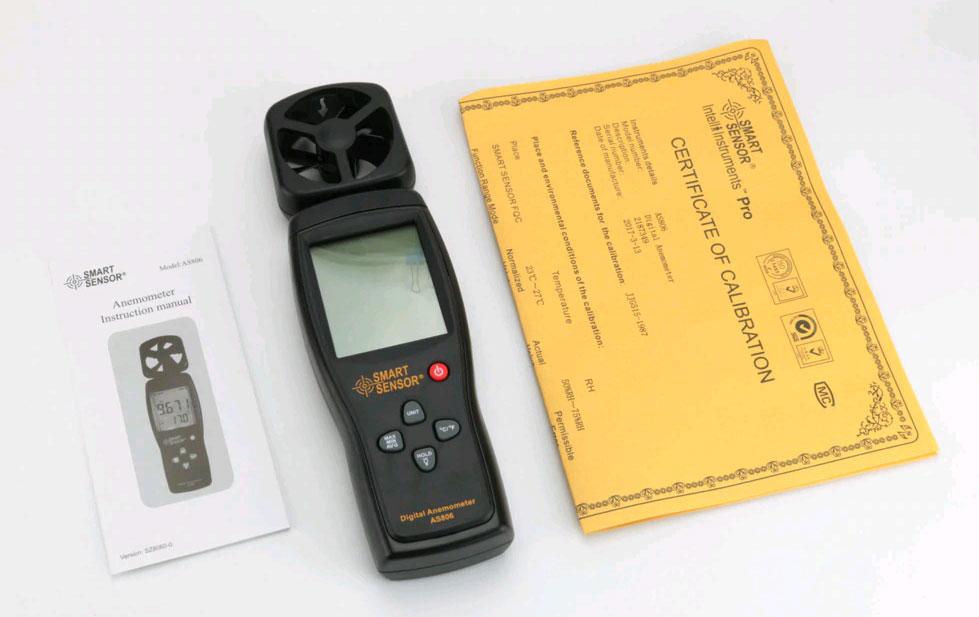 AS806 анемометр Smart Sensor: стандартная поставка
