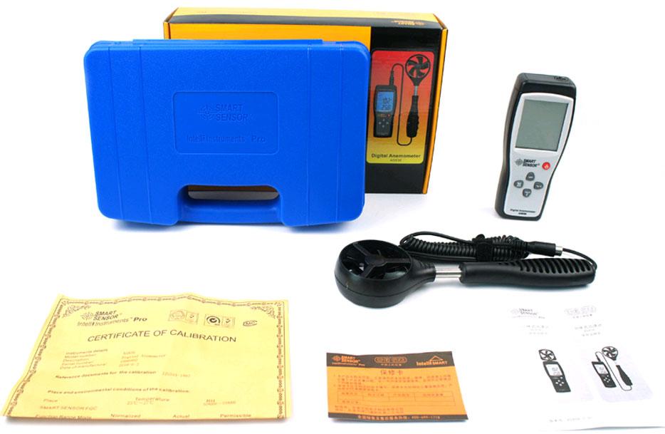 AS836 анемометр Smart Sensor, стандартная комплектация