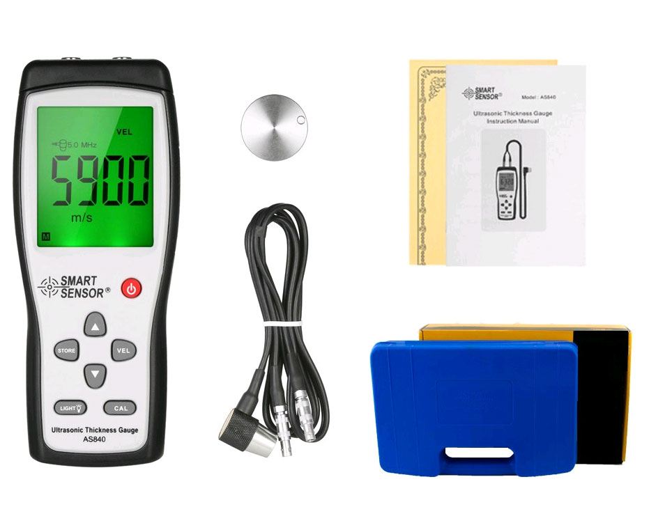AS840 толщиномер Smart Sensor, стандартная комплектация