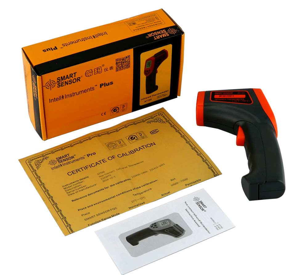стандартная комплектация пирометра AT800 Smart Sensor