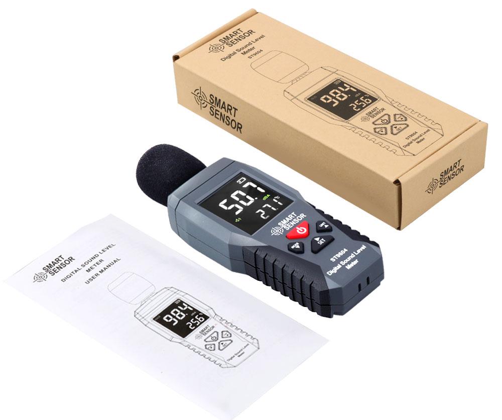 стандартная комплектация измерителя шума ST9604 Smart Sensor