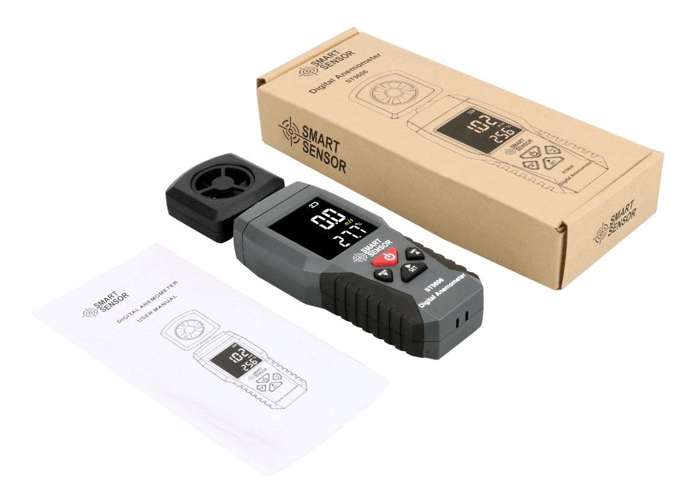 ST9606 анемометр Smart Sensor - комплект поставки