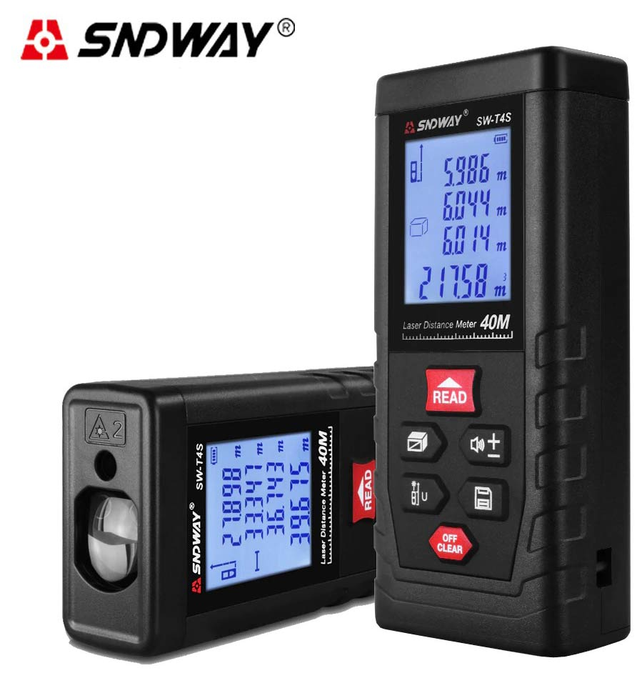 Стандартная комплектация лазерной рулетки SW-T4S SNDWAY