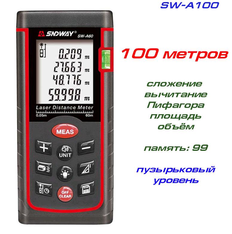 Стандартная комплектация лазерной рулетки SW-A100 SNDWAY