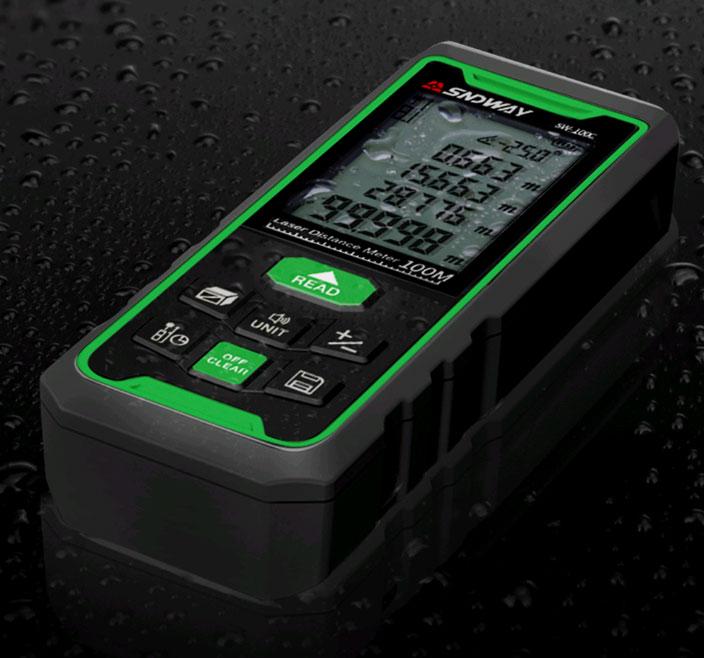 Высокий уровень защиты от воды и пыли лазерной рулетки SW-70G SNDWAY