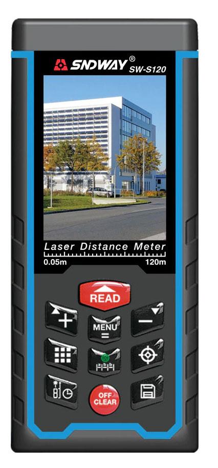 Стандартная комплектация лазерной рулетки SW-S120 SNDWAY