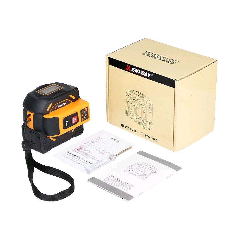 Стандартная комплектация лазерной рулетки SW-TM60 SNDWAY