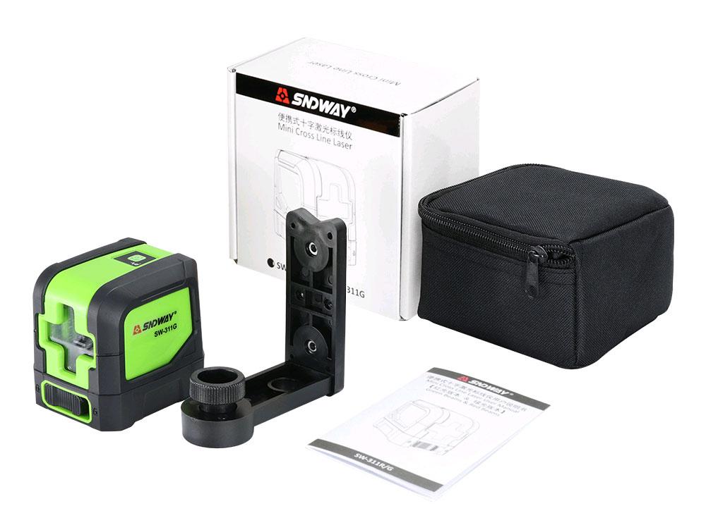 Стандартная комплектация лазерного уровня SW-311G SNDWAY