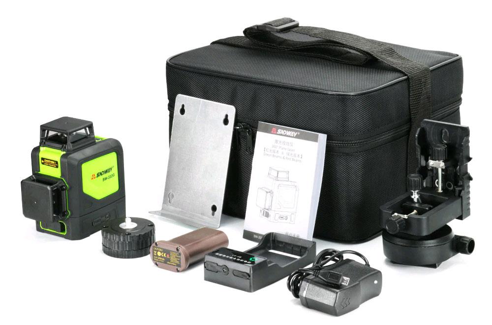 Стандартная комплектация лазерного уровня SW-332G SNDWAY